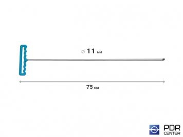 Фото Крючок градовый для винтовых насадок (длина 75 см, Ø 11 мм)