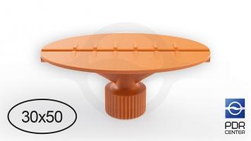 Фото Клеевой грибок овальный, оранжевый (30x50 mm)