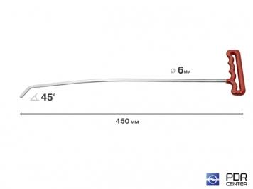 Фото Левый градовый (лезвиный) (длина 45 см, угол загиба 45º, Ø 6 мм)