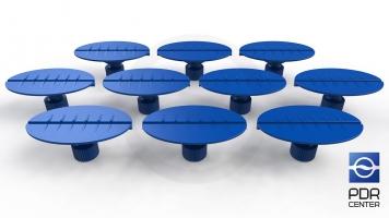 Фото Клеевые грибки овальные, синие (30x50 mm) (комплект из 10-ти штук)