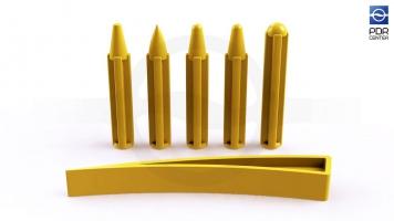 Фото Комплект из пяти кернов с клином T-4
