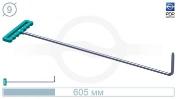 Фото Крючок со стандартным загибом для насадок A35/36 (длина 605 мм,угол загиба 90º, Ø 9 мм)
