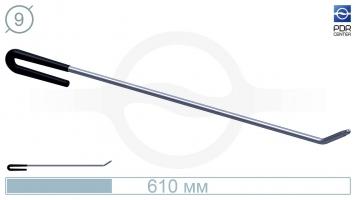 Фото Крючок с загибом 35º под насадки А35/36 (длина 61 см, угол загиба 35º, Ø 9 мм)