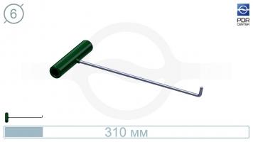 Фото Крючок № PDRC-5 (КРЭ) крючок длина 33 см,длина загиба 3 см, угол загиба 75º. Ø6 мм.