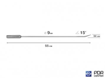 Фото Крючок прямой, острый (длина 55 см,  угол загиба 15º, длина загиба 50 мм, Ø 9 мм)