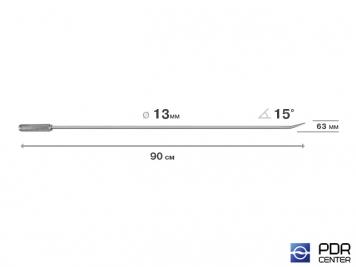 Фото Крючок прямой, острый (длина 90 см,  угол загиба 15º, длина загиба 63 мм, Ø 13 мм)