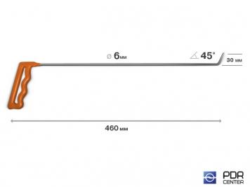 Фото Крючок № 03 (Ø 6 мм, длина 490 мм, оранжевый)