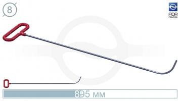 Фото Крючок с круговым загибом, плоский кончик (длина 89,5 см, длина загиба 100 мм, угол загиба 80º, Ø 8 мм)