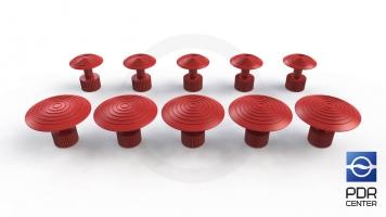 Фото Клеевые грибки Wurth, красные (комплект из 10 шт Ø 21 mm и Ø 32 mm)