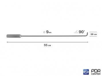 Фото Крючок прямой под насадки A35 и A36  (длина 55 см,  угол загиба 90º, длина загиба 38 мм, Ø 9 мм)