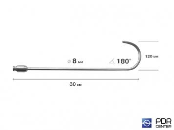 Фото Крючок дверной, плоский, без ручки (длина 30 см,  угол загиба 180º, длина загиба 120 мм, Ø 6 мм)