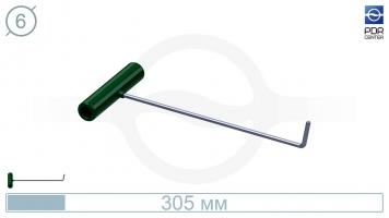 Фото Крючок № PDRC-4 (КРЭ) крючок длина 33 см,длина загиба 4 см, угол загиба 75º. Ø6 мм.