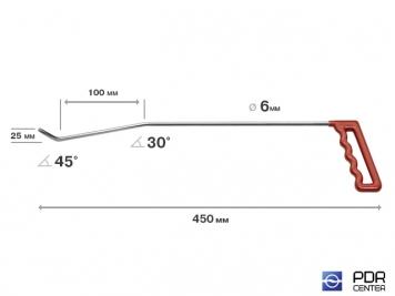 Фото Левый угловой (длина 45 см, угол загиба 45º, Ø 6 мм)