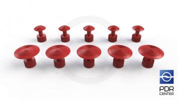 Фото Клеевые грибки Wurth, красные (комплект из 10 шт Ø 16 mm и Ø 27 mm)