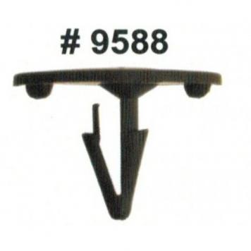 Фото Комплект клипс для автомобилей Ford, черные, 50 штук (Ø отверстия 8 мм, Ø шляпки 30 мм)