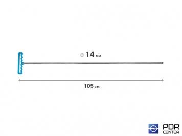 Фото Крючок градовый для винтовых насадок (длина 105 см, Ø 14 мм)