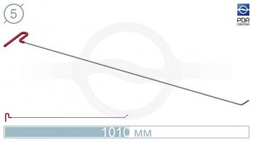 Фото Крючок со стандартным загибом, плоский  (длина 101 см, угол загиба 45º, длина загиба 40 мм, Ø 5 мм)