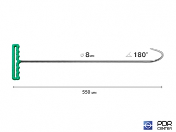 Фото Крюк с большим изгибом (длина 55 см, угол загиба 160º, Ø 8 мм)