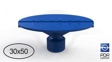 Фото Клеевой грибок овальный, синий (30x50 mm)