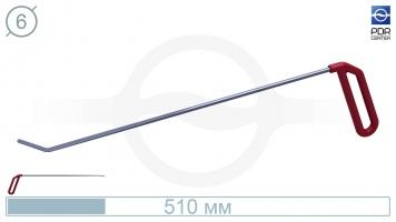 Фото Крючок правый угловой, плоский (длина 51 см, угол загиба 45º, длина загиба 35 мм, Ø 6 мм)
