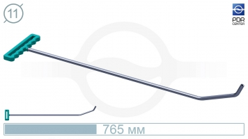 Фото Крючок с двойным загибом для винтовых насадок (длина 765 мм,угол загиба 65º, Ø 11 мм)