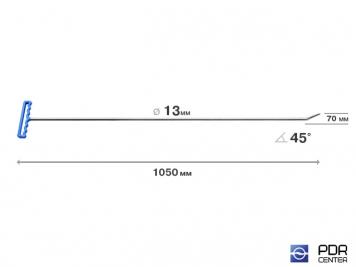 Фото Крючок со стандартным загибом, закруглённый (длина 120 см, длина загиба 7 см, угол загиба 45°, Ø 13 мм)