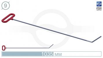 Фото Крючок со стандартным загибом, плоский  (длина 103,5 см, угол загиба 45º, длина загиба 130 мм, Ø 9 мм)