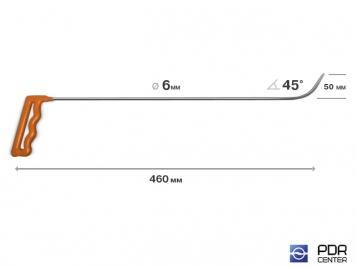 Фото Крючок № 04 (Ø 6 мм, длина 480 мм, оранжевый)