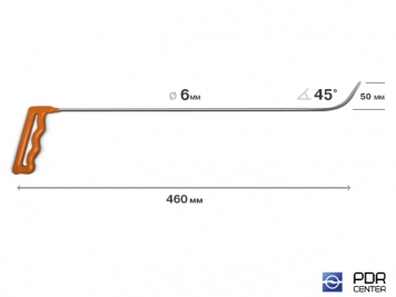 Фото Крючок № 04 (Ø 6 мм, длина 485 мм, оранжевый)