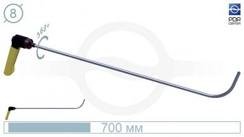 Фото Крючок с поворотной ручкой,PR-1 Platinum Длина 70 см,длина загиба 10 см, угол загиба 75º. Ø8 мм.