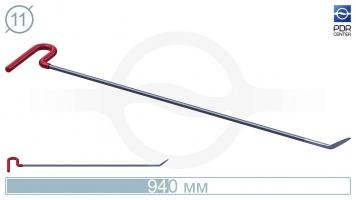 """Фото Крючок со стандартным загибом, кончик """"пуля"""" с плоскими краями (длина 94 см, угол загиба 40º, длина загиба 65 мм, Ø 11 мм)"""