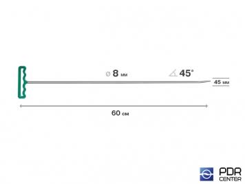 Фото Крючок со стандартным загибом, закруглённый (длина 82 см,  угол загиба 45º, длина загиба 45 мм, Ø 8 мм)