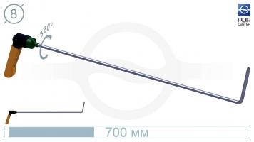 Фото Крючок с поворотной ручкой,PR-11 Platinum Длина 60 см,длина загиба 10 см, угол загиба 75º. Ø8 мм.