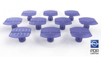 Фото Клеевые грибки Wurth, фиолетовые, бочкообразные (комплект из 10-ти штук)