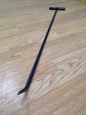 Фото Крючок со стандартным загибом, закруглённый (длина 90 см, длина загиба 7 см, угол загиба 45°, Ø 13 мм)