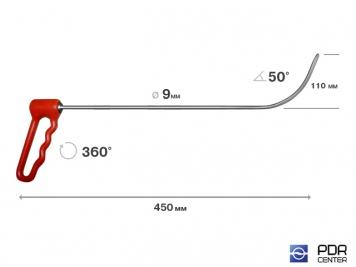 Фото Крюк с поворотной ручкой, короткий (Ø 9 мм, длина 450 мм)