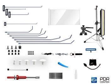 Фото 02UE - Ultra S со средней лампой (11 крючков, средняя LED лампа, 7 аксессуаров, насадки, клеевая система с обратным молотком)