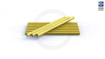 Фото Клеевые стержни, 10 штук, желтые, экстра сильные, для холодной погоды
