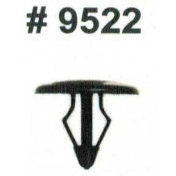 Фото Комплект клипс для автомобилей Ford, черные, 25 штук (Ø отверстия 6 мм, Ø шляпки 14 мм)