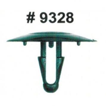 Фото Комплект клипс для автомобилей Toyota, черные, 15 штук (Ø отверстия 7 мм, Ø шляпки 30 мм)