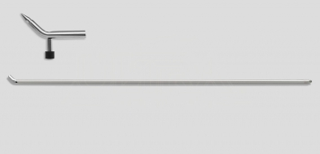 Фото Крючок со стандартным загибом под винтовые насадки (+ отверстие для дополнительной насадки), без рукоятки (длина 130 см, угол загиба 45º, Ø 16 мм)