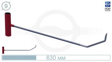 Фото Крючок с двойным загибом, острый (длина 60 см, Ø 9 мм)