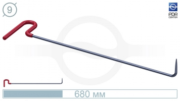 Фото Крючок с загибом 90º, острый (длина 68 см, угол загиба 90º, длина загиба 75 мм, Ø 9 мм)
