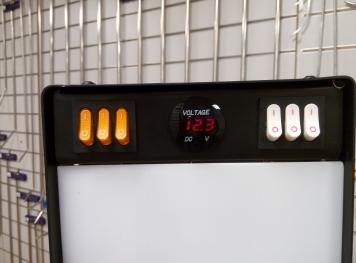 Фото Большая светодиодная лампа с пультом д/у, 6 полос, диммер, 220V