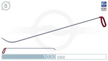 Фото Крючок с круговым загибом, правый, плоский кончик (длина 103 см, длина загиба 95 мм, угол загиба 80º, Ø 8 мм)