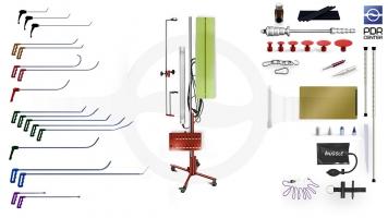 Фото Средний набор с большой двойной лампой (18 крючков, 4 насадки, 12 аксессуаров, клеевая система, большая двойная лампа)
