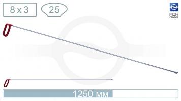 """Фото Крючок из нержавеющей стали """"Китовый хвост"""", длина 125 см, ширина головы 25 мм"""