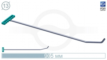 Фото Крючок с двойным загибом для винтовых насадок (длина 90,5 см, угол загиба 60º, Ø 13 мм)