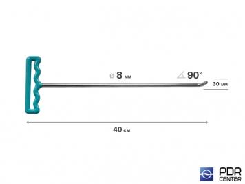 Фото Крючок со стандартным загибом под насадки A35 и A36 (длина 40 см,  угол загиба 90º, длина загиба 25 мм, Ø 8 мм)