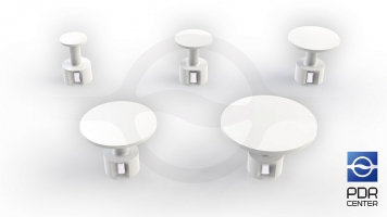 Фото Комплект грибков Ultra Dent Magnet с магнитом (5 шт, 12 - 30 мм)